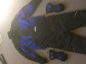 Yamaha snowmobile suit jacket gloves
