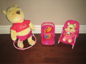 Winnie the Pooh Accessories with stuffed Poohs