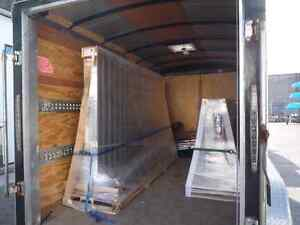 DELIVERY BY KEVIN TRUCK AND DRY ENCLOSED TRAILER