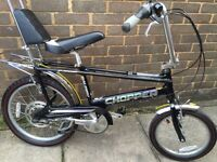Raleigh chopper in black rare color immaculate