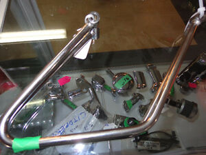 Softail rear rack & throw over bag brackets- recycledgear.ca