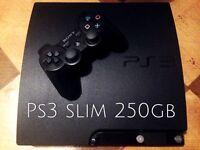 ❗️PS3 slim 250 GB full set + 2 games