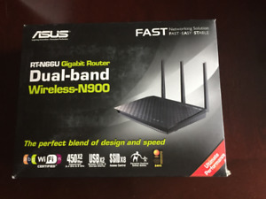Router - ASUS RT-N66U Dual-Band Wireless-N900 Gigabit Router