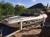 Wave Rider Speed Boat 115hp Mariner Outboard
