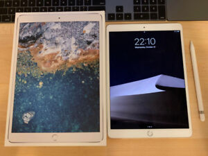 iPad Pro 10.5 Silver 256GB, with Smart Cover and Apple Pencil