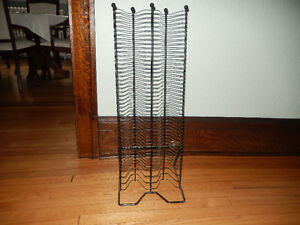 Black iron CD rack/tower