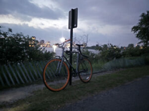 STOLEN: Single Speed Grey/Orange Critical cycles
