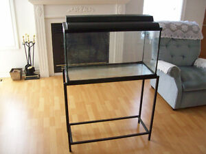 30 GALLON AQUARIUM  WITH ACCESSORIES  AND  STAND