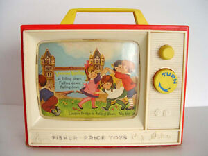 Vintage Fisher Price Giant Screen Music Box TV.