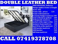 Kingsize and Doublea leather Base also/ Bedding