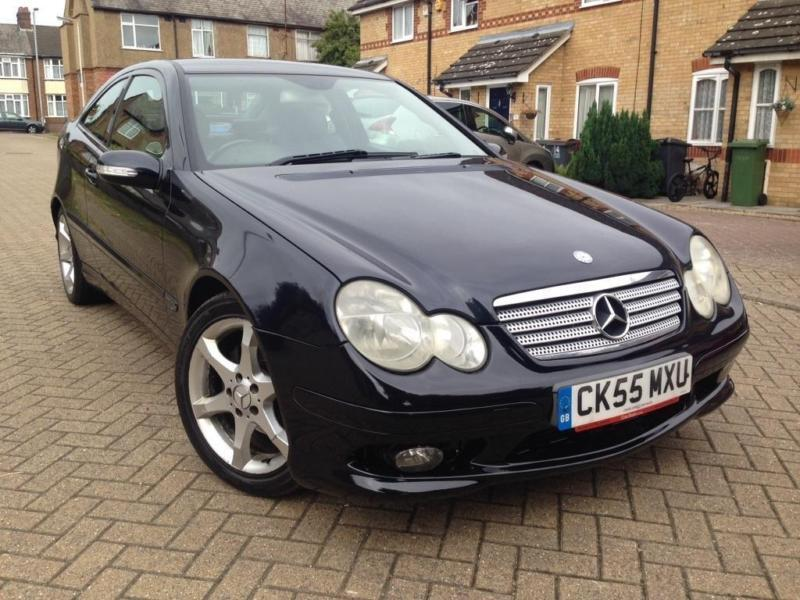 2005 mercedes benz c class 2 1 c220 cdi sport coupe 2dr diesel automatic in luton. Black Bedroom Furniture Sets. Home Design Ideas