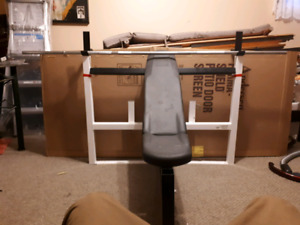 Incline and flat bench with bar 100 bucks obo