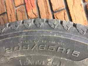 205/65R15 Goodyear Nordic Winter Tires On Rims