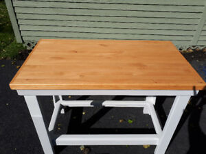 Butcher Block-Type Table