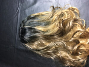 synthetic lace front ombre wig 18-19 inches in length