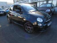 2014 Fiat 500 1.2 S - Black - 1/2 LEATHER + 3 YEARS MANUFACTURES WARRANTY!