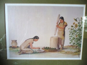 "Iroquois Artist Lithograph, Ernest Smith ""Making SunFlower Oil"" Stratford Kitchener Area image 2"