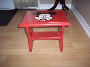 Wooden Step Stool and plastic step stool
