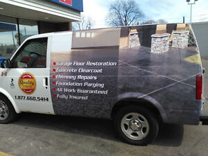 Concrete sealing,Concrete repairs,Foundation Parging Oakville / Halton Region Toronto (GTA) image 1