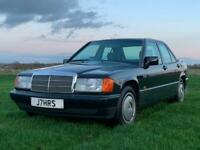 91 Mercedes-Benz 190 2.0E auto Exceptional Full Merc History Private Plate J7HRS