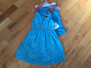 New with tags. Tea dress with leggings. 12-18m