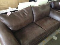 LIQUIDATION SALE - Leather Sofa - We Pay the Tax