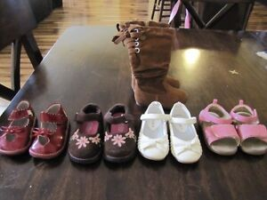 Lots of little girl shoes!
