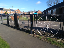 Wagon Wheel Fence Sections