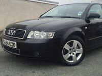 REDUCED!! £2395.00*2004 AUDI A4 TDi SE SALOON 1.9 DIESEL BLACK & BHP 130 & FULL SERVICE HISTORY