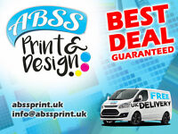 ABSS Print & Design - Best Deal UK - Leaflets, Flyers, Business Cards, Menus, Posters, Web Design, +