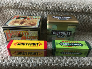 Wrigley's, Basset's, Yorkshire Tea - Collectible tins