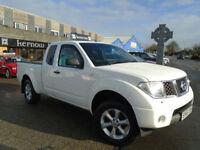 2006 (56) NISSAN NAVARA KING CAB 2.5 DCi White 5 Seater Alloys NO VAT