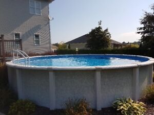 Pool 24 feet - 52 inches - salt system + Heat Pump 95,000 BTU