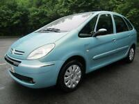 05/05 CITROEN XSARA PICASSO 2.0 HDI EXCLUSIVE IN MET BLUE WITH ONLY 60,000 MILES