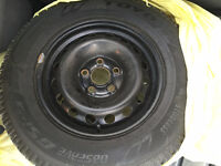 235/65/16 SET OF 4 WINTER TIRES WITH RIMS ALMOST NEW