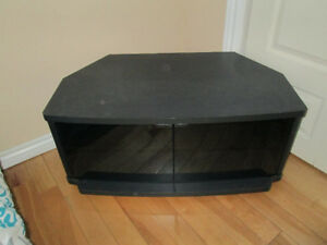 black, heavy duty Big tv stand