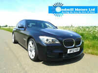 BMW 7 SERIES 3.0 730D M SPORT 4DR BLACK - SOFT CLOSE-PRO NAV-360 CAM