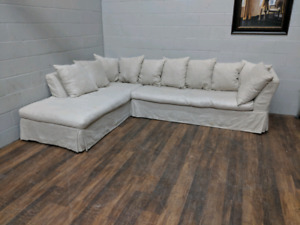 High-end linen sectional sofa. FREE DELIVERY​