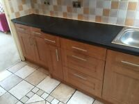 Full Kitchen, cupboards, worktops, dishwasher, washing machine, fridge, sink, oven, job etc