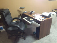 Computer desk and Managers chair