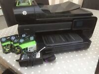 HP office jet 7500 a3 wireless printer (with full set of ink)