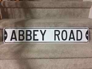 The Beatles - 2 stretched canvas prints and Abbey Road sign Cambridge Kitchener Area image 3
