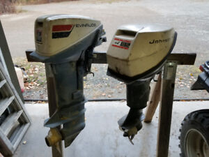 Mid 70s Evinrude 9.9 and late 60s Johnson 9.5