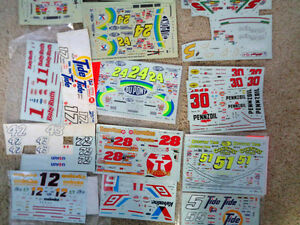 Decals Dupont Coca Cola Tide Baby Ruth  Pennzoil Meineke Texaco