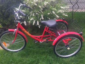 Tricycle Capri pour Adolescent ou Adulte de couleur Rouge