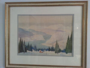 Watercolour Painting by Graham Noble Norwell - Listed Canadian