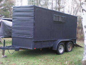 6x12 dual axel closed in trailer