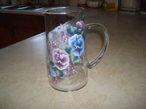 Painted Glass Jug