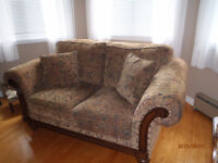 3 pc Living Room Set, Leather chair