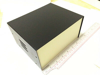 Black Diy Electronic Metal Project Box Instrument Enclosure Case 5.7x7x3.5